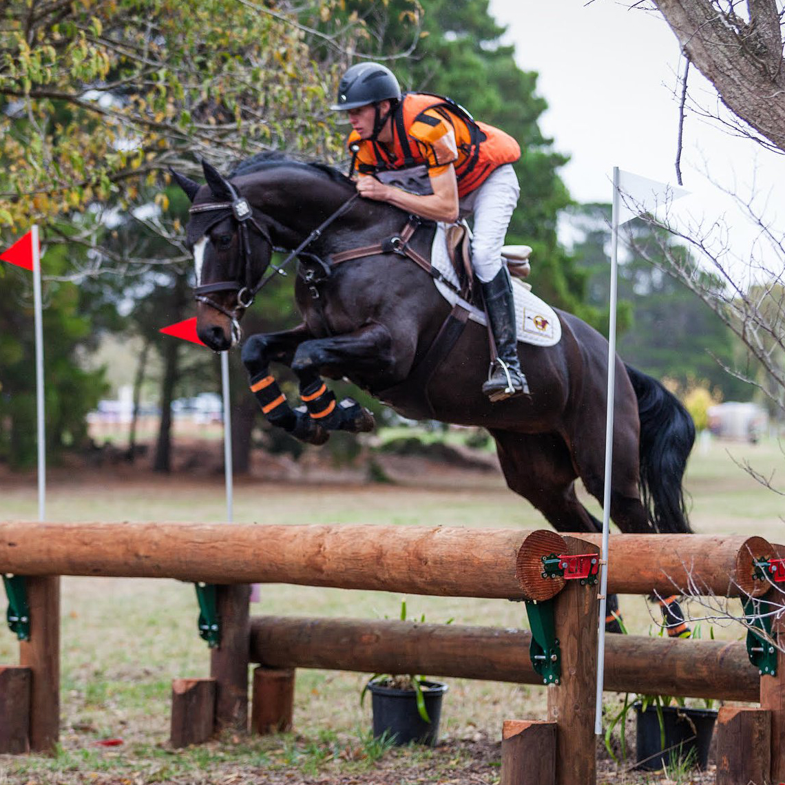 Sam Jeffree with Paige Burford's Woodmount Lolita at Ballarat Horse Trials 2018 – Photo by Equine Images Victoria