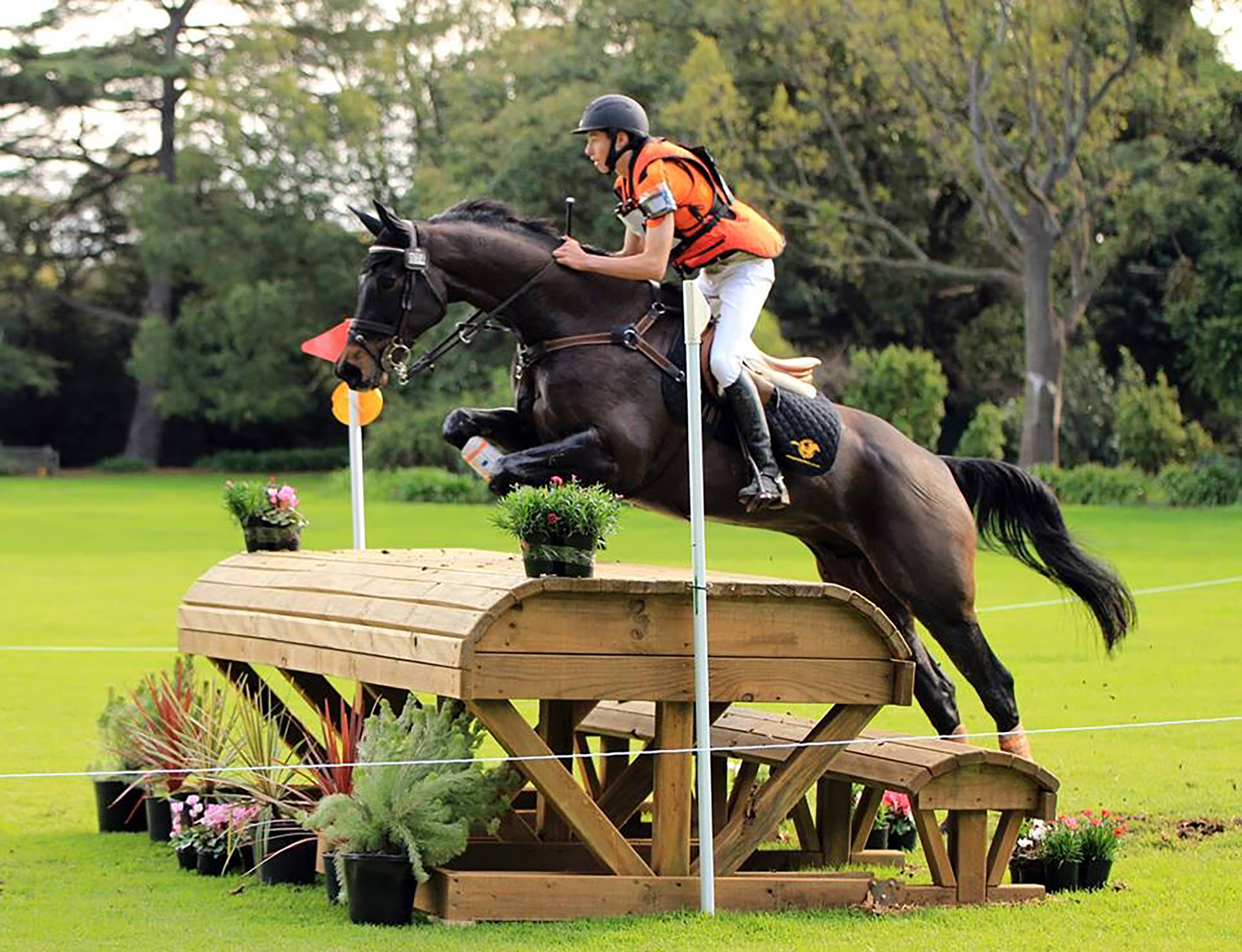 Sam Jeffree riding Jaybee Calypso cross-country at Melbourne International Three Day Event