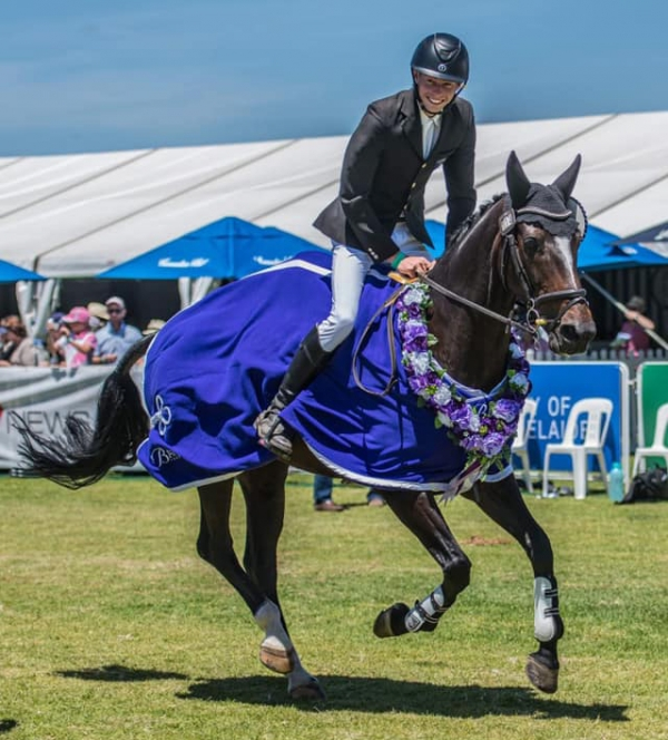 Sam Jeffree & Woodmount Lolita take out the National Young Rider Championship at Australian International 3 Day Event 2019. Victory Lap photo by Brittany Grovenor