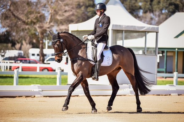 Sam Jeffree & Santoro - Dressage - Photo by Capture Dat Photography