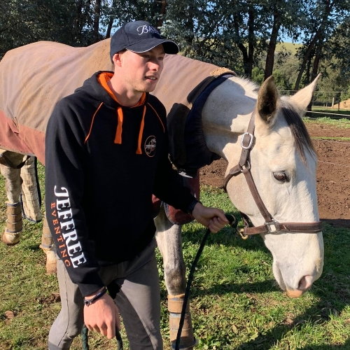 Limited Edition Hoodie from Jeffree Eventing - in action
